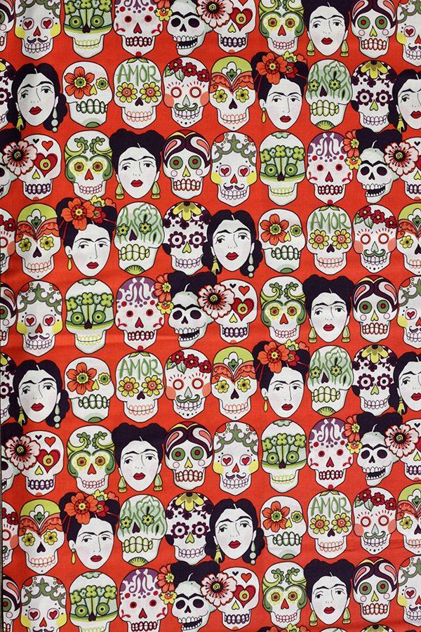 fabric skulls frida