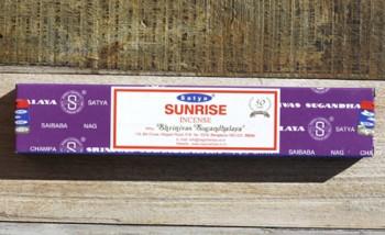 incense satya sunrise