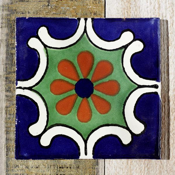 mexican tile arabesque azul vde