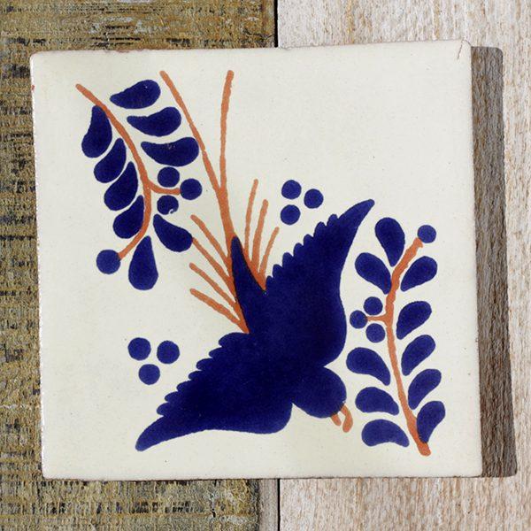mexican tile bird azul