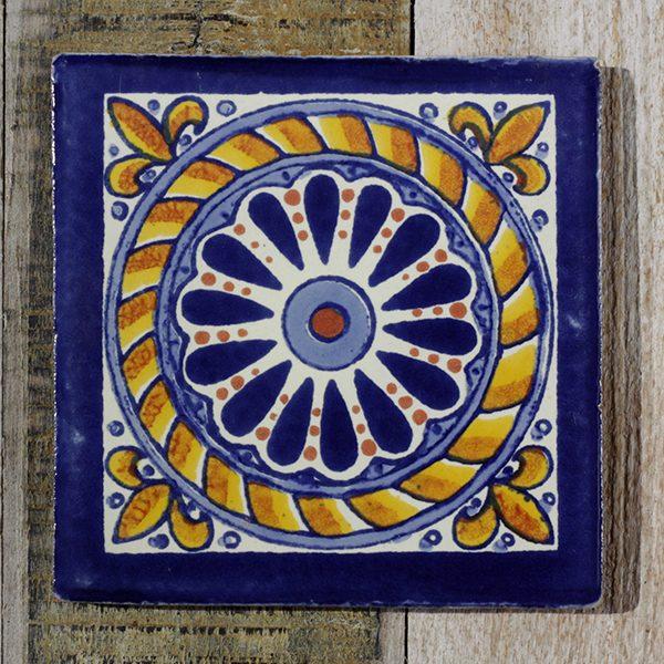 mexican tile cuerda azul
