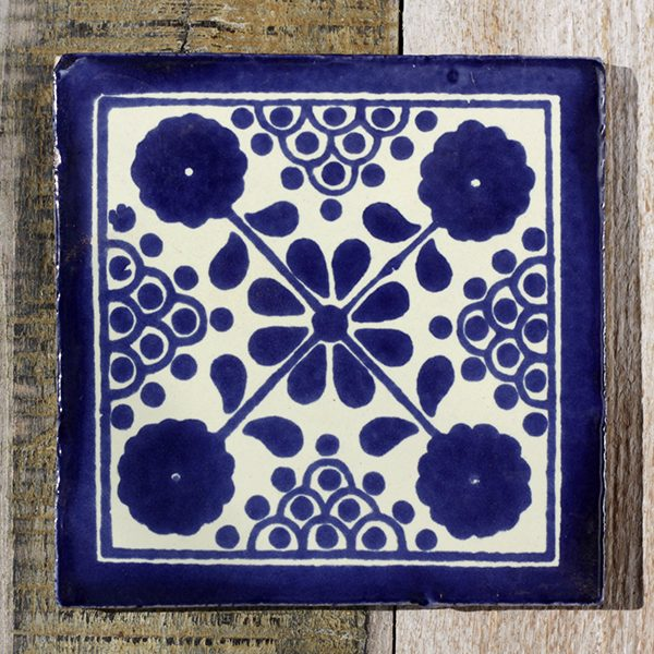 mexican tile damasco azul