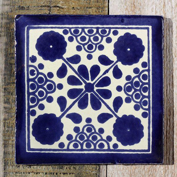 mexican tile damasco azul