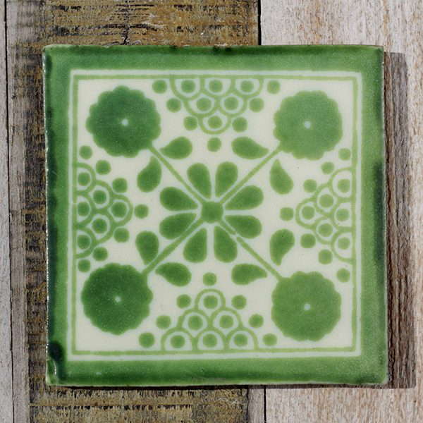 mexican tile damasco verde