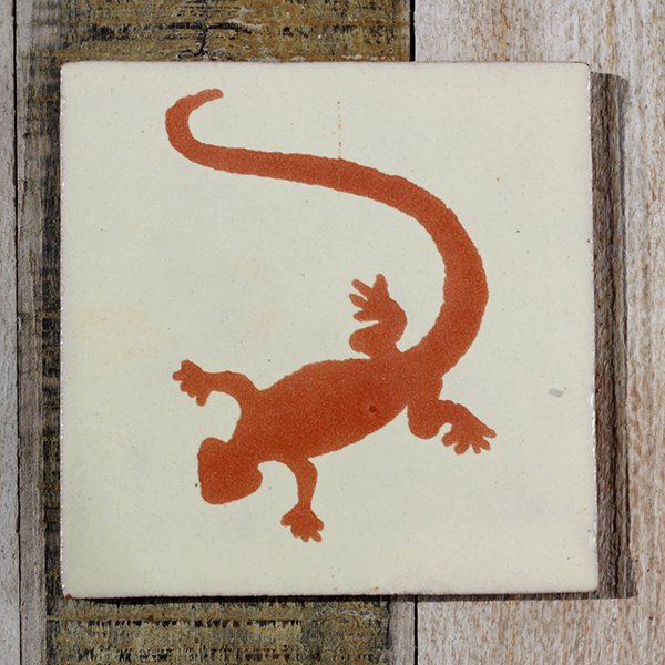 Mexican hand-made ceramic tile Lizard Tc | Caoba