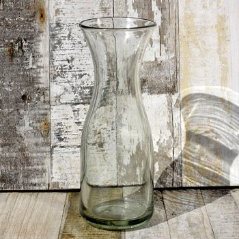 recycled glass carafe clear