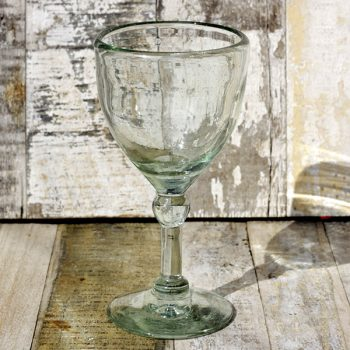 recycled wine glass clear