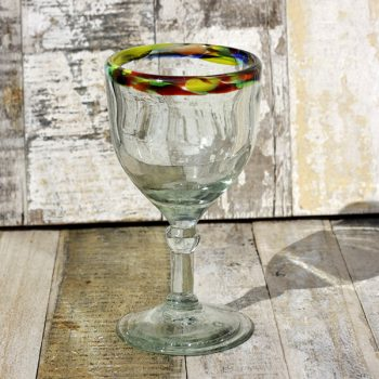 recycled wine glass confetti rim