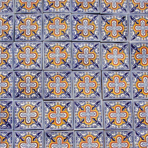 caoba flor de liz azul 1