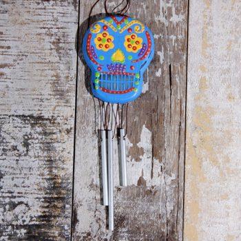 skull chimes blue