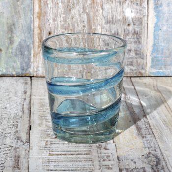 glass swirl aqua