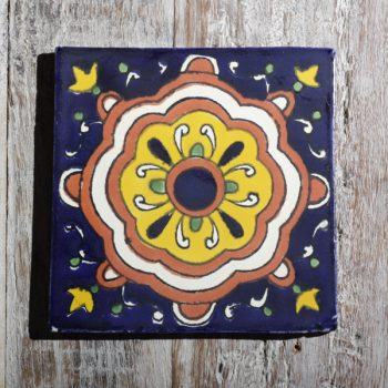 mexican tile cupula mostaza
