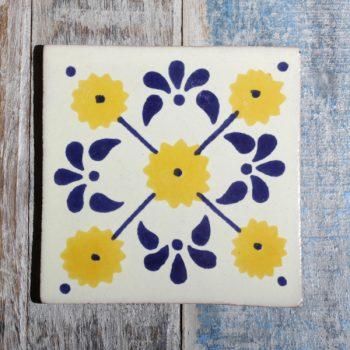 mexican tile margarita azul amarillo