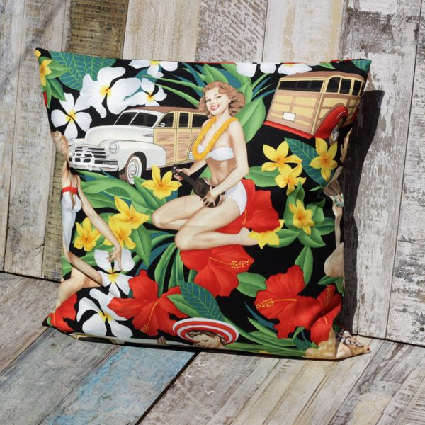 cushion aloha girls black caoba