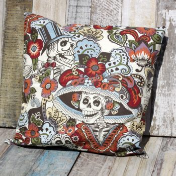 cushion dia de la catrina cream caoba