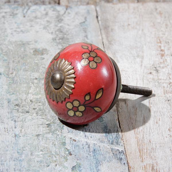 knob red gold