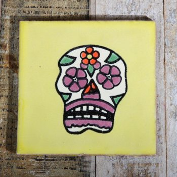 tile skull yellow