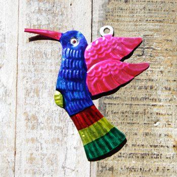 caoba tin humming bird blue