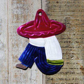 caoba tin pancho pink sombrero