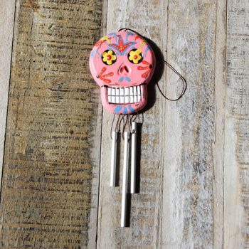 caoba skull chime pink