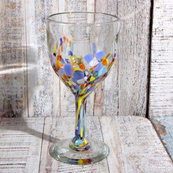 caoba wine glass confetti