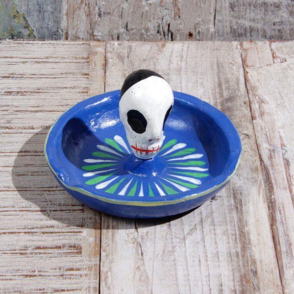 caoba ashtray blue