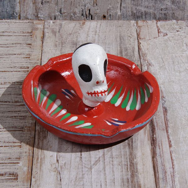 caoba ashtray red