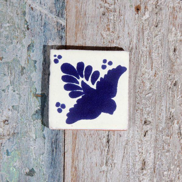 small tile bird azul