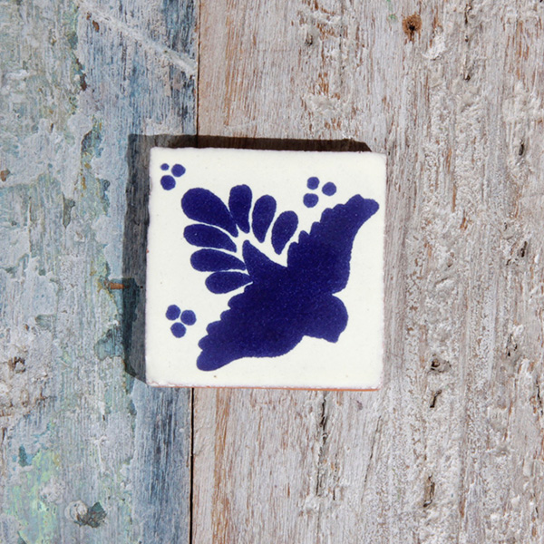 small tile bird azul
