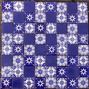 tile set Juan caoba