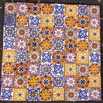tile set Nico caoba