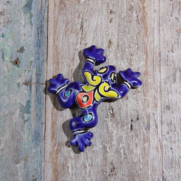 mini caoba frog blue