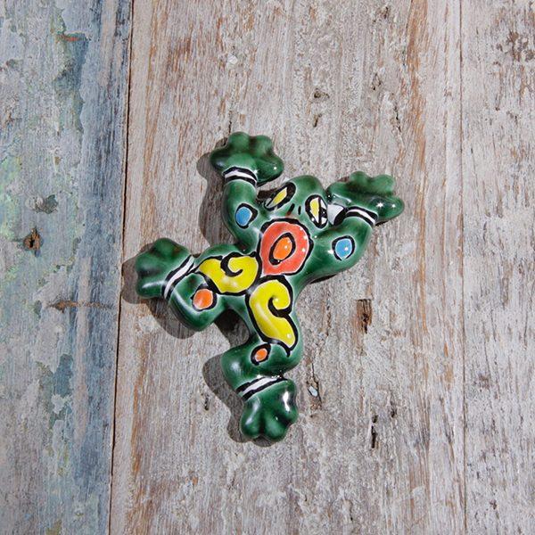 mini caoba frog green