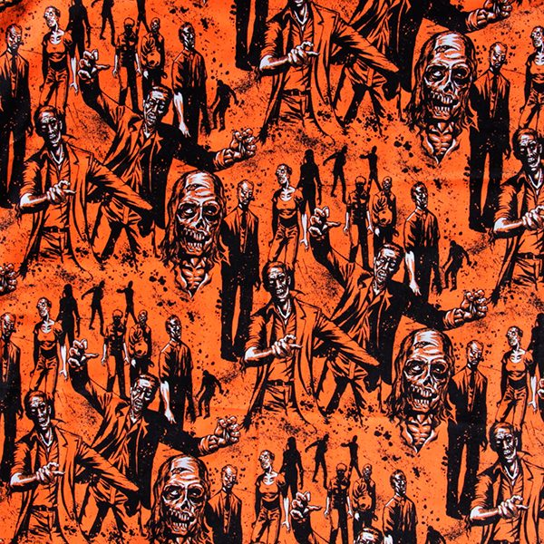 caoba fabric zombie orange