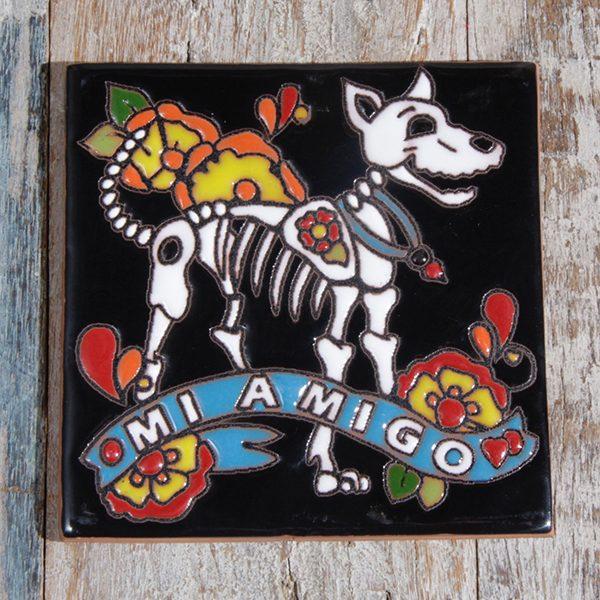 caoba relief tile dog