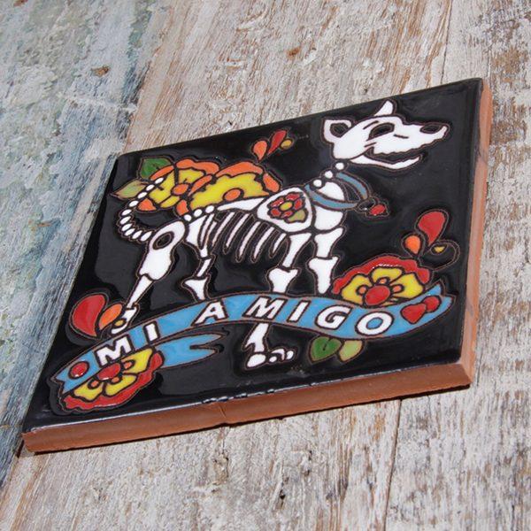 caoba relief tile dog a