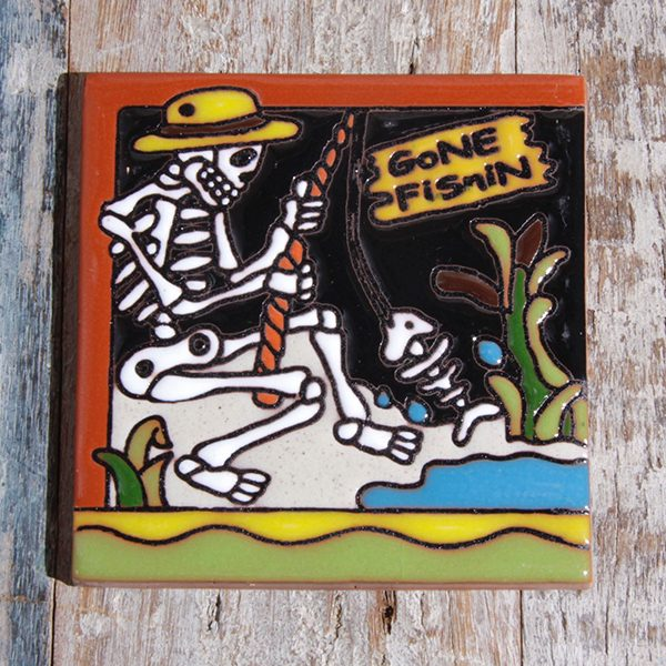caoba relief tile fishin