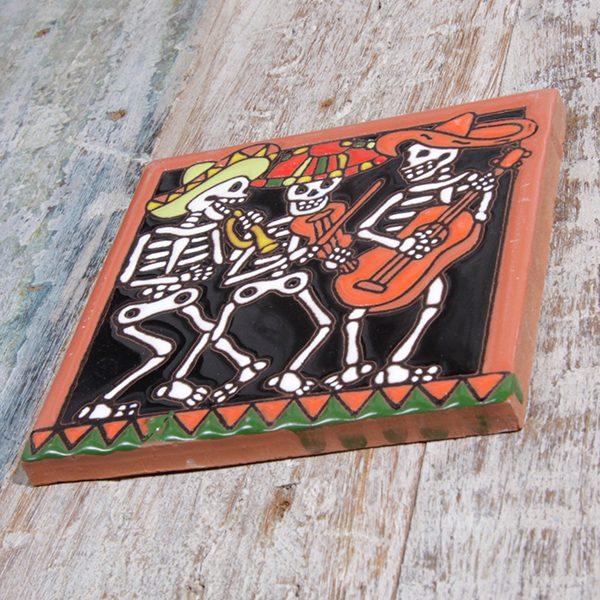 caoba relief tile mariachi a