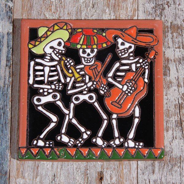caoba relief tiles mariachi