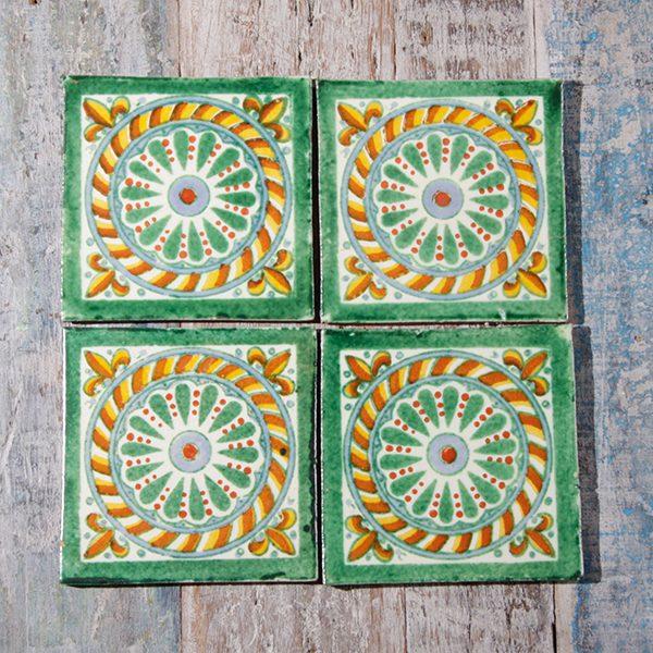 caoba coasters cuerda verde 1