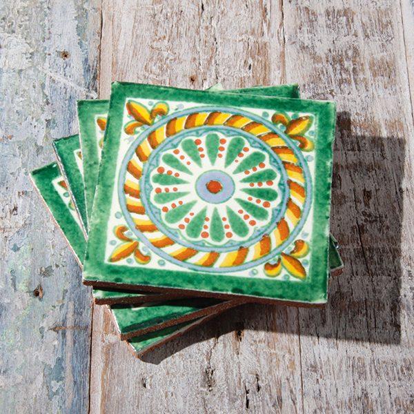 caoba coasters cuerda verde 2