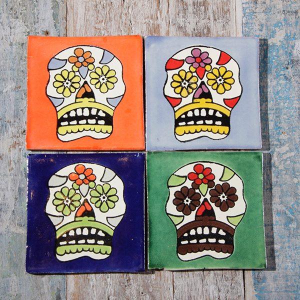 caoba coasters skulls B1