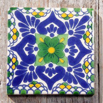 Mexican Tile Lluvia Verde Con Mostaza