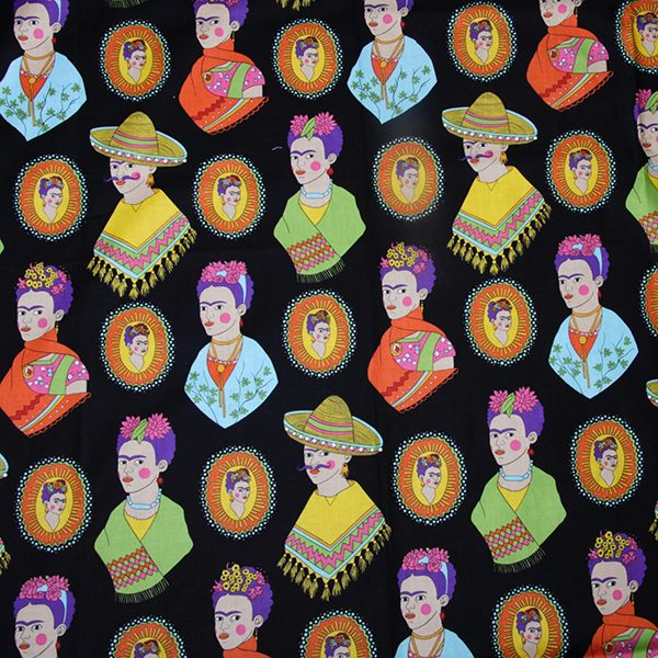 fabric caoba frida black