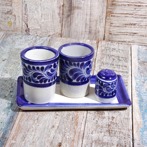 caoba tequila set blue