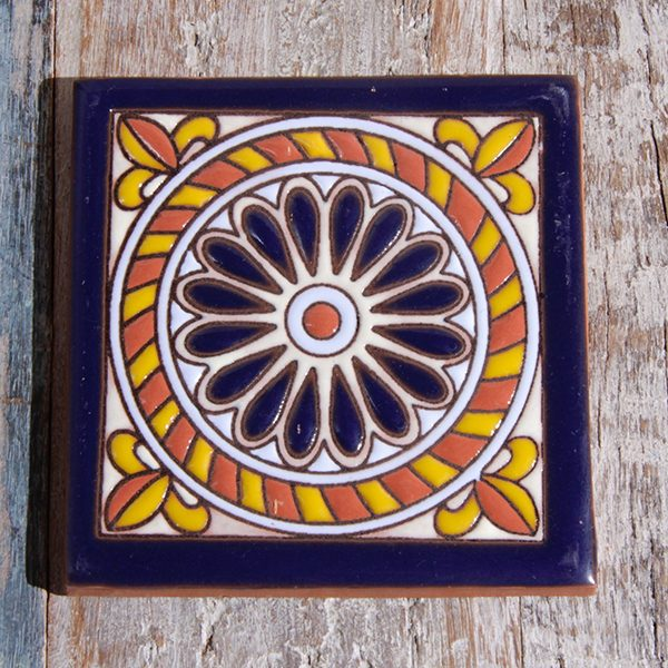 caoba tile relief cuerda azul