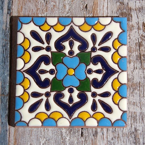 caoba tile relief lluvia blue