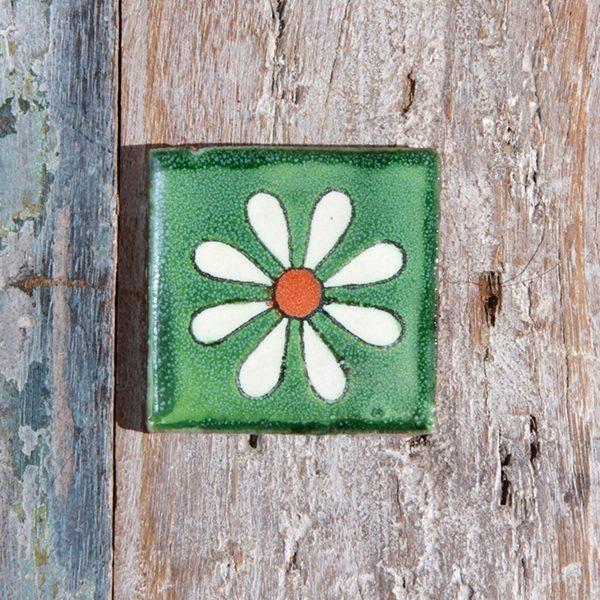 caoba tile small amapola verde