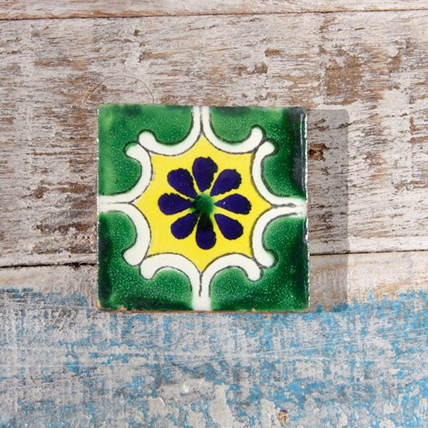 caoba tile small arab verde