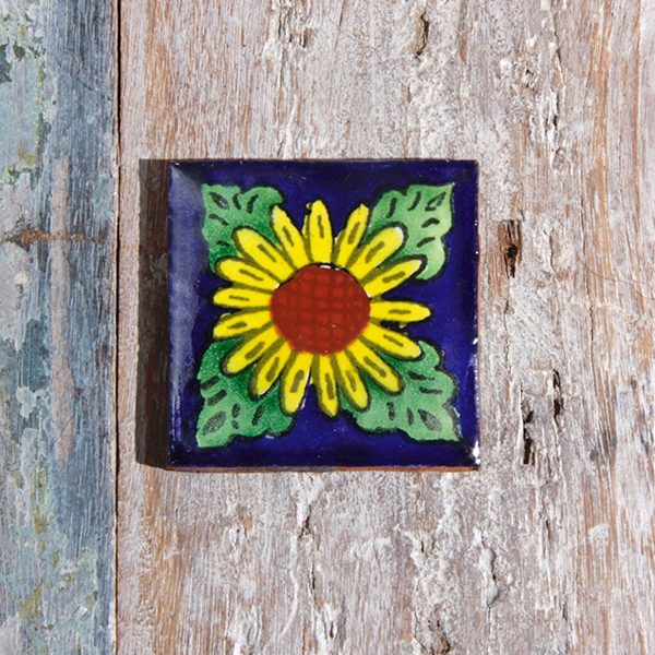 caoba tile small sunflower